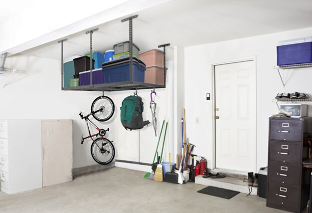 Overhead Garage Storage Adjustable Ceiling Storage Rack
