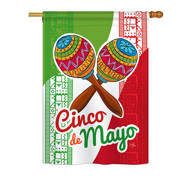 Breeze Decor Maracas Cinco De Mayo Country And Primitive 2 Sided Polyester 40 X 28 In House Flag Wayfair