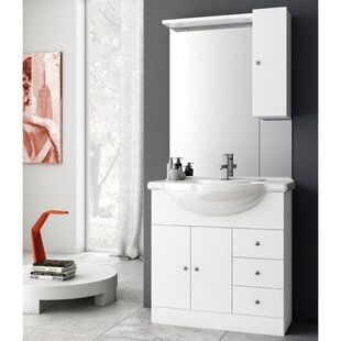 London 34 Single Bathroom Vanity Set with Mirror By ACF Bathroom Vanities
