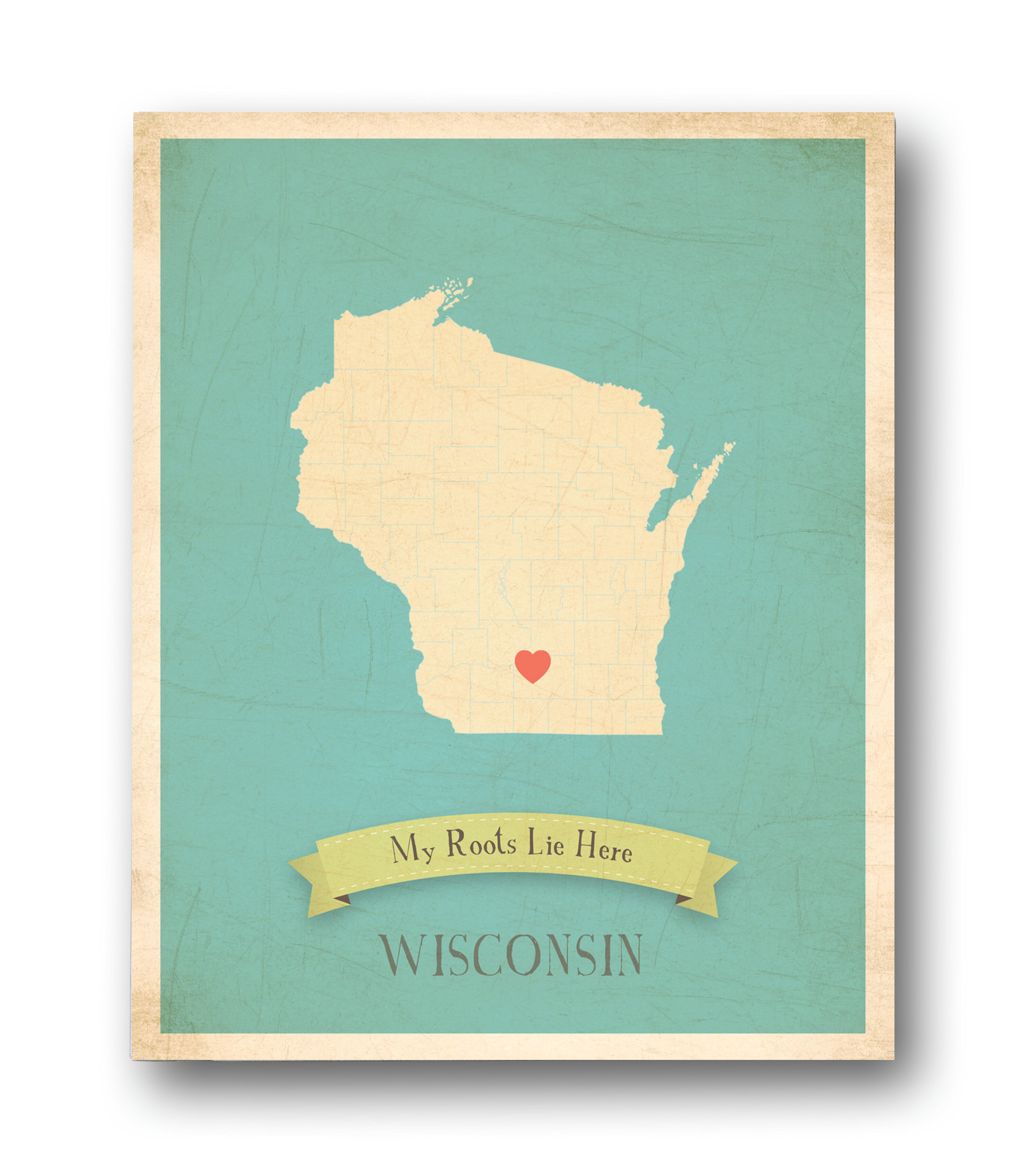 Children Inspire Design My Roots Wisconsin Personalized Map Graphic ...