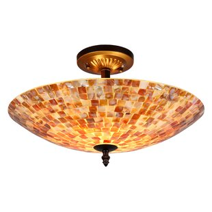 Leighton 2-Light Semi Flush Mount by World Menagerie