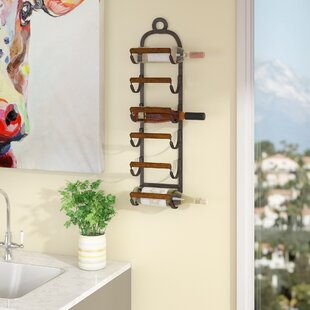 Watson 6 Bottle Wall Mounted Wine Rack
