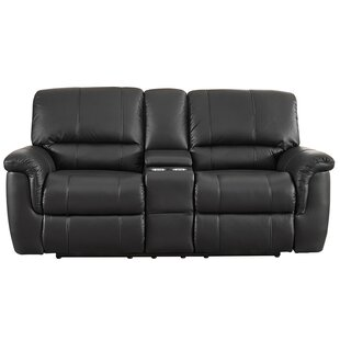 Averill Leather Reclining Loveseat