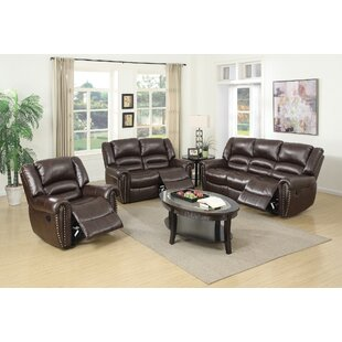 Red Barrel Studio Miltonsburg Reclining 3 Piece Living Room Set