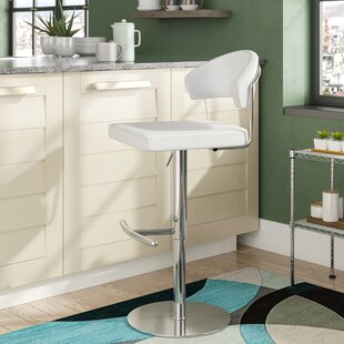 Kerry Adjustable Height Swivel Bar Stool ..