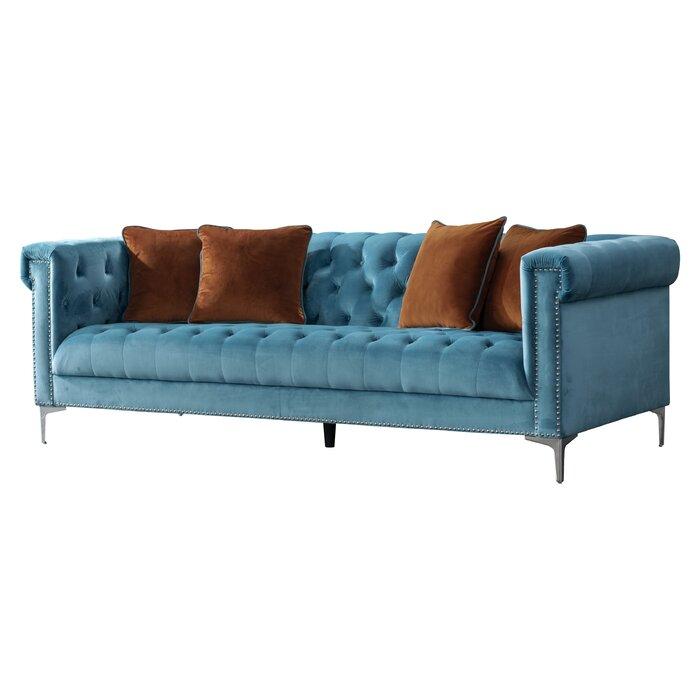 Pleasant Acanva Vintage Tufted Velvet Sofa Uwap Interior Chair Design Uwaporg