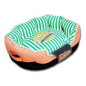 Neutral-Striped Ultra-Plush Rectangular Rounded Designer Dog Bed