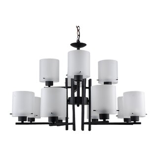 Whitfield Lighting Dexter 12-Light Shaded Chandelier