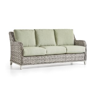 Cape Lookout Patio Sofa With Cushions By South Sea Rattan
