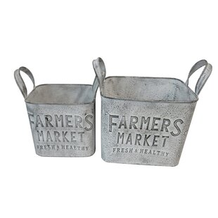 Gibson Metal Farmers Market 2 Piece Planter Box Set By Brambly Cottage