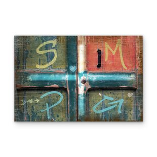 u0027Put Your Initials on This Barn Dooru0027 Graphic Art Print on Wood  sc 1 st  Wayfair & Front Door Hanging Initials | Wayfair