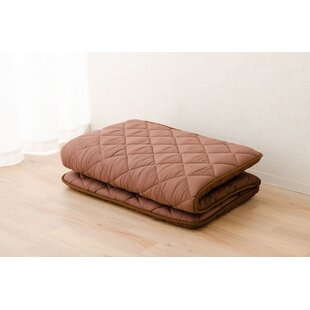 Starnes Polyester, Japanese Futon Mattress (39 x 83 x 2.5 in.), Twin-Long Size, Brown, Made in Japan
