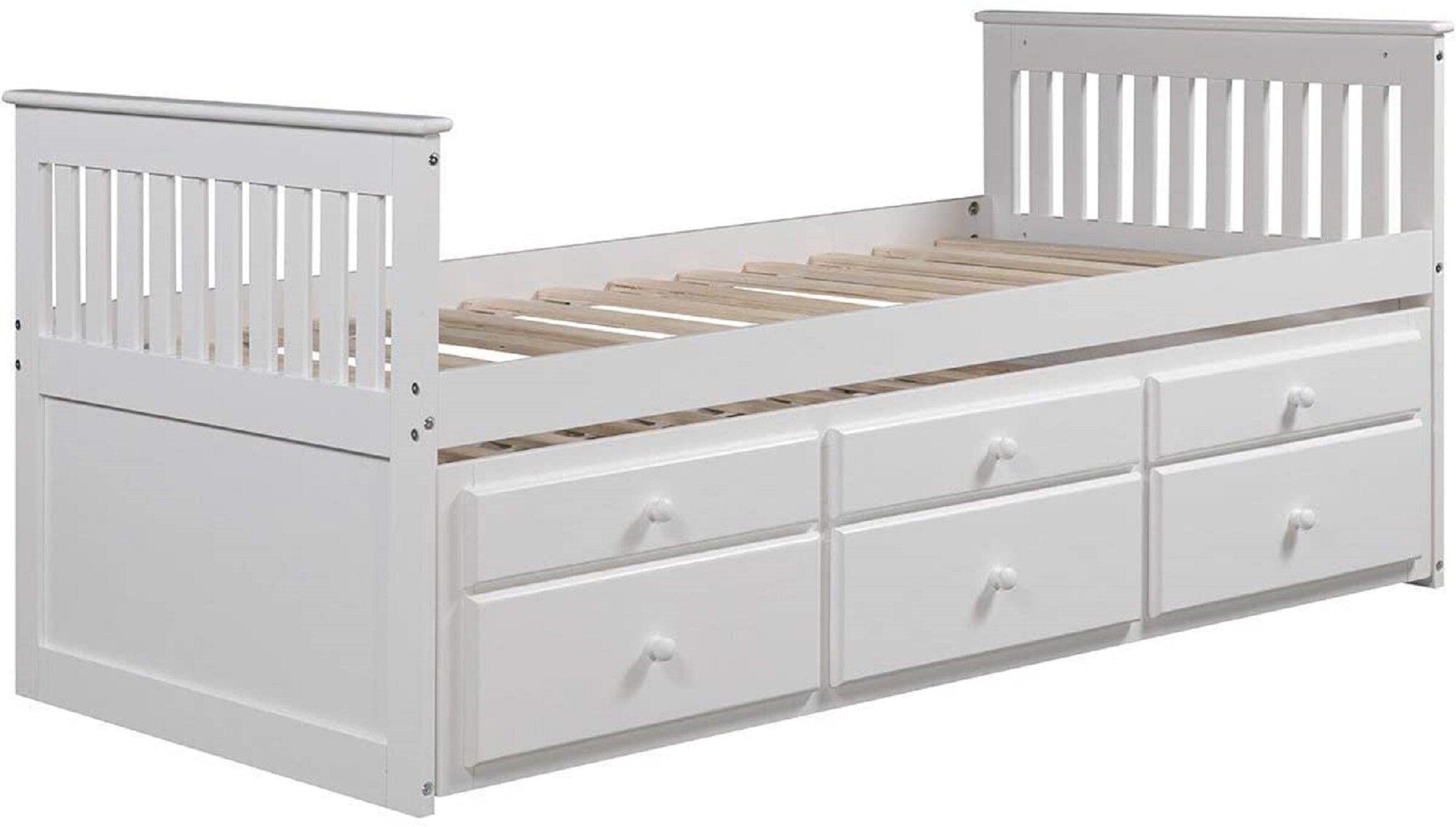 Harriet Bee Bohdan Twin Storage Platform Bed Wayfair