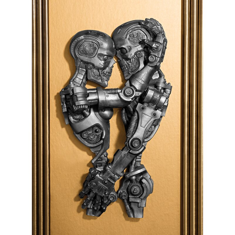 Steampunk Machine Age Sweethearts Wall Décor