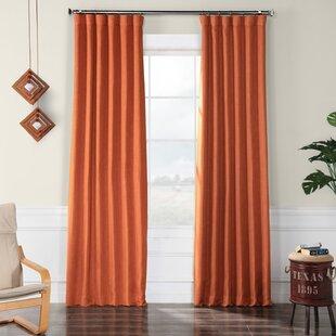 Modern Orange Curtains + Drapes | AllModern