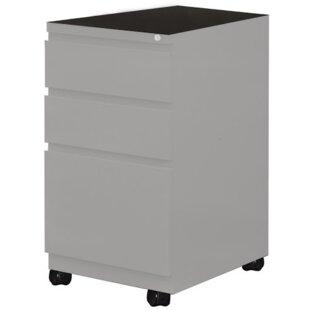 Mayline Group 3-Drawer Mobile Vertical Filing Cabinet