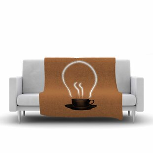 Digital Carbine the Power of Coffee Food Fleece Blanket By East Urban Home