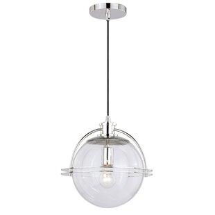Abhinav 1-Light Globe Pendant by Wrought Studio