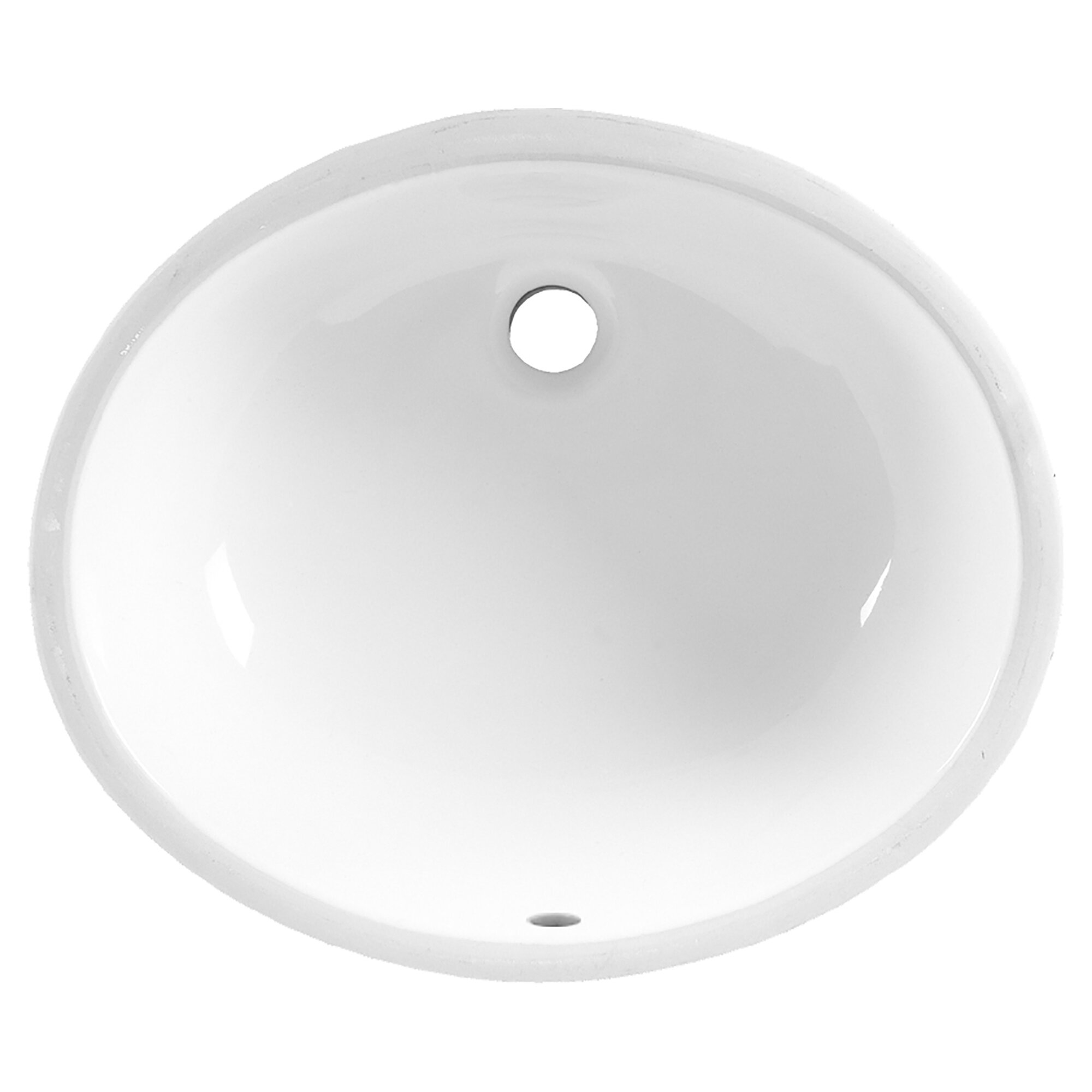 American Standard Ovalyn White Vitreous China Circular Undermount Bathroom Sink With Overflow Reviews Wayfair