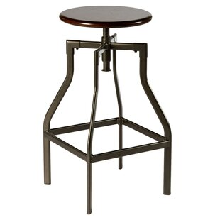 Hillsdale Furniture Cyprus Adjustable Height Swivel Bar Stool