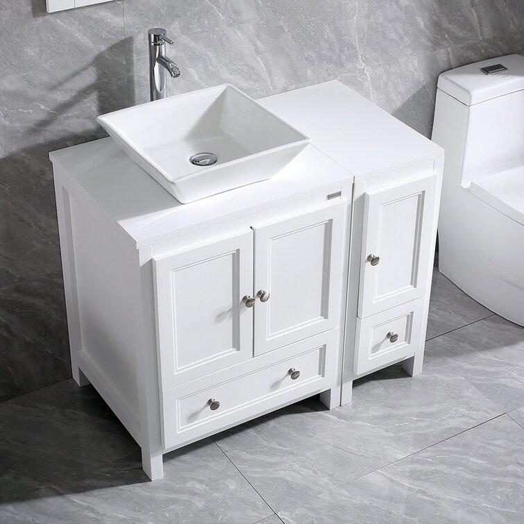 Highland Dunes Mclemore 36 Single Bathroom Vanity Set With Mirror Reviews Wayfair
