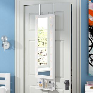 Charney LED Wall Mounted Jewelry Armoire With Mirror