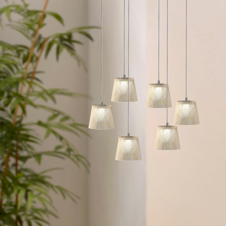 Orren Ellis Emerie 6 Light Cluster Cone Pendant Wayfair