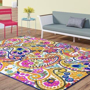 Dorinda Yellow/Pink Indoor/Outdoor Area Rug