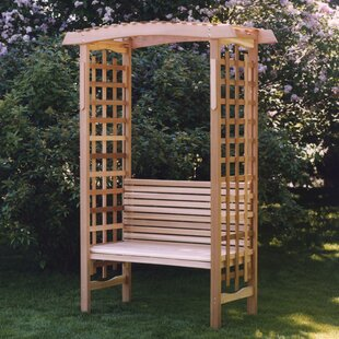 All Things Cedar Garden Wood Arbor with Bench