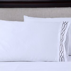 600 Thread Count Cotton Embroidered Pillowcase (Set of 2)