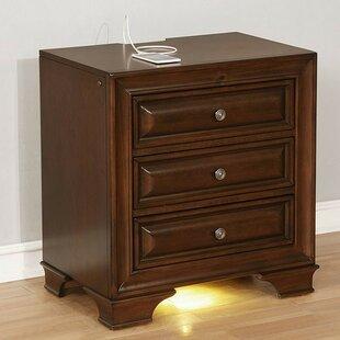 Find for Ollie 3 Drawer Nightstand by Darby Home Co