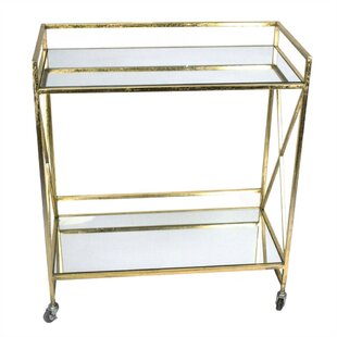 Dumas Mirrored Bar Cart by House of Hampton
