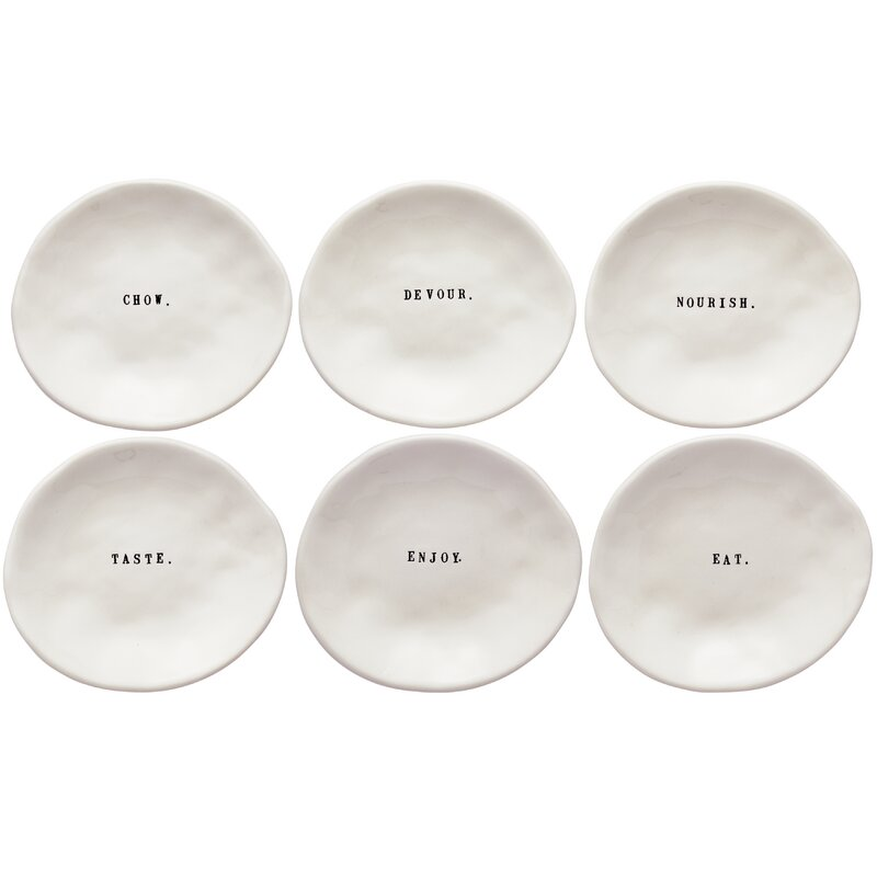 Rae Dunn Eating Dishes 6 Piece Platter Set