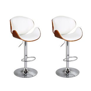Cioffi Adjustable Height Swivel Bar Stool (Set of 2) George Oliver