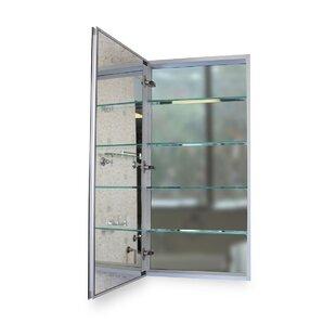 Surface Mount or Recessed Frameless 1 Door Medicine Cabinet with 5 Adjustable Shelves