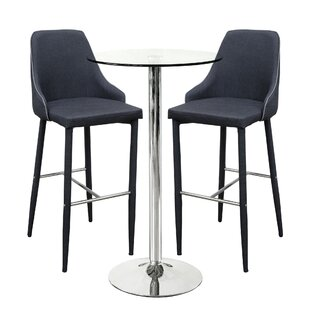 Spacek Dining Set With 2 Chairs By Ebern Designs