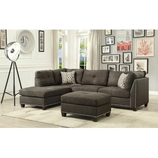 Ruthann Sectional With Ottoman by Ivy Bronx Sale