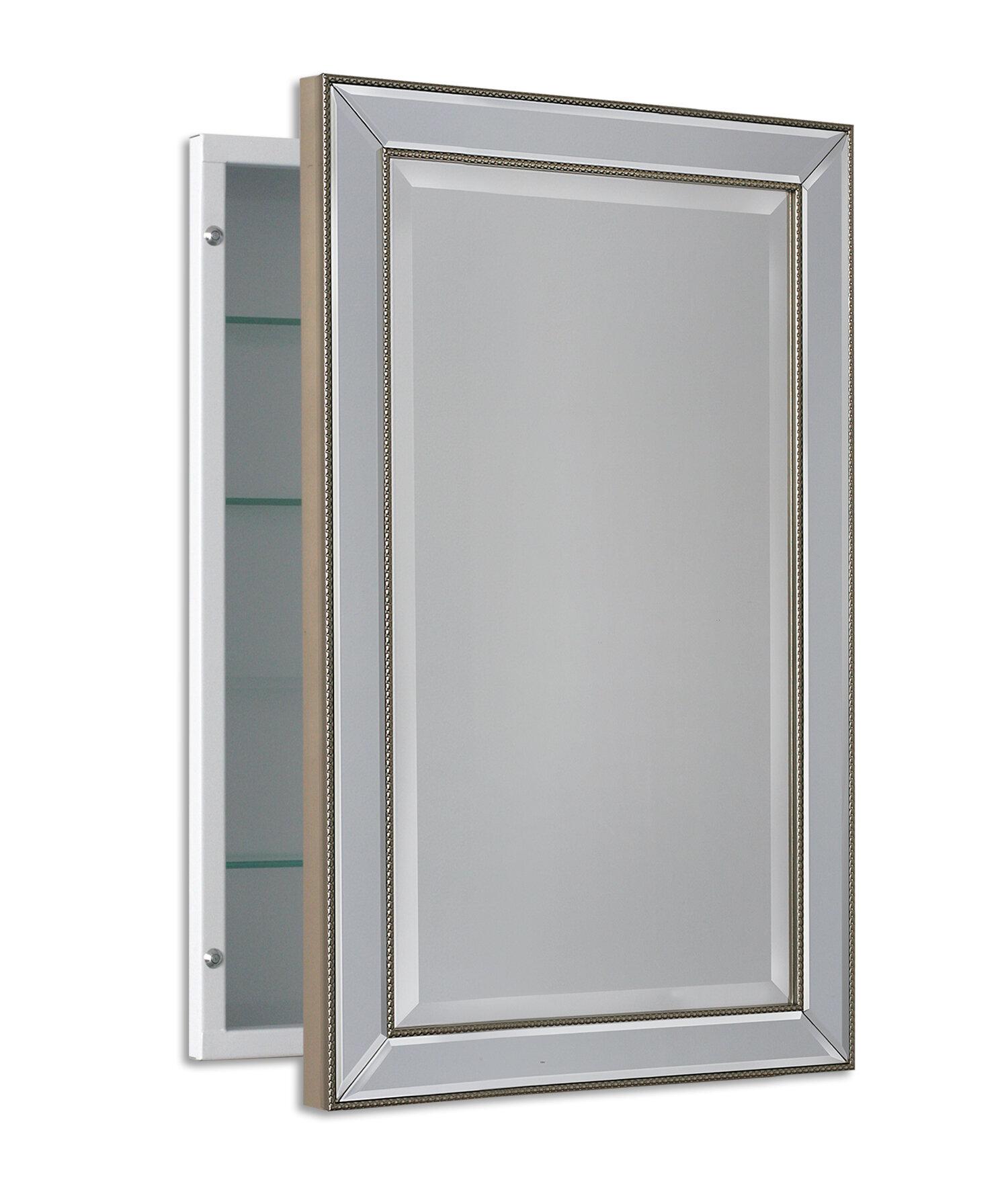 Weslaco Beaded Recessed Framed 1 Door Medicine Cabinet With 3 Adjustable Shelves Reviews Birch Lane