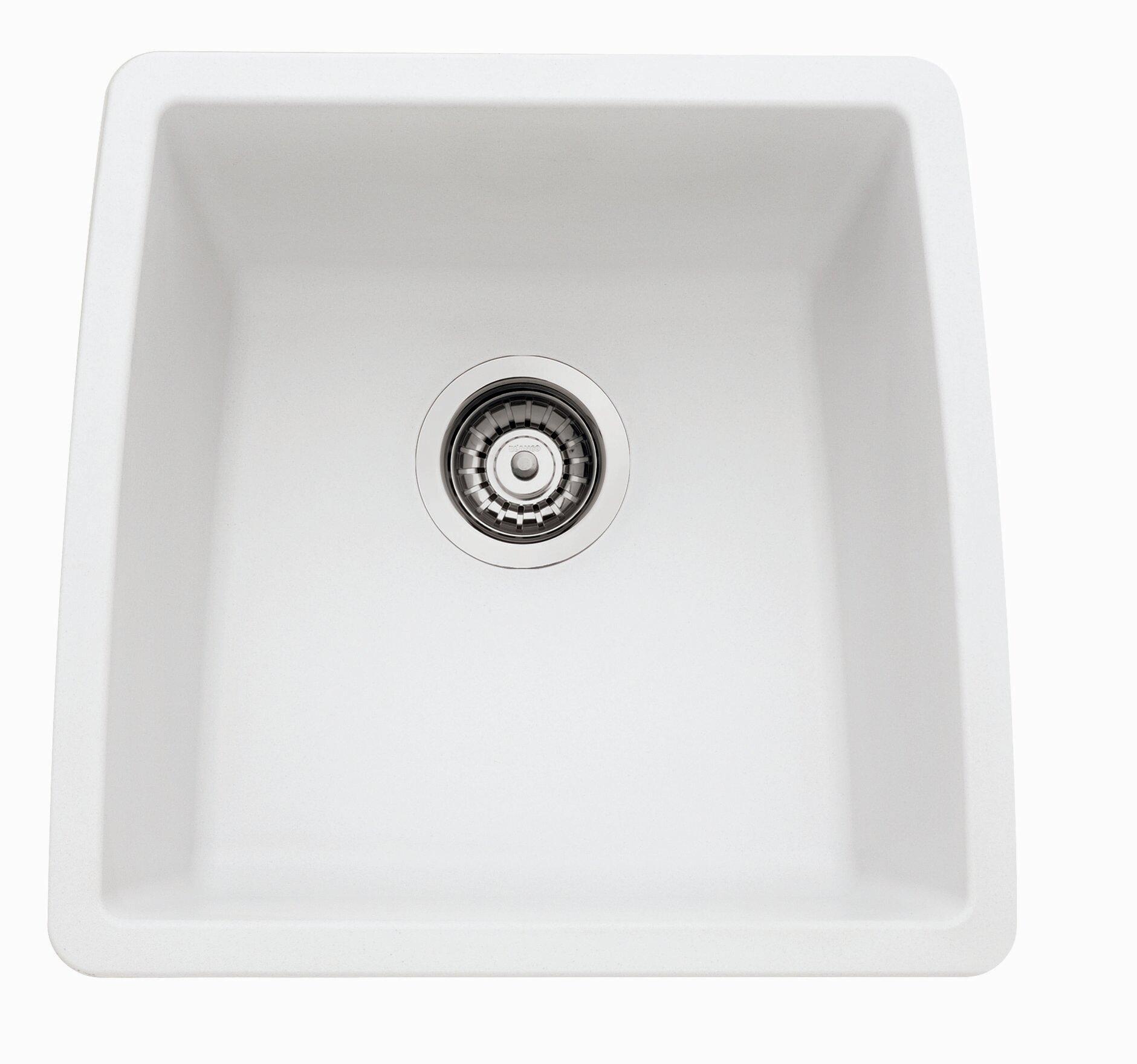 Blanco Performa 17 5 L X W Silgranit Ii Single Bowl Undermount Bar Sink Reviews Wayfair