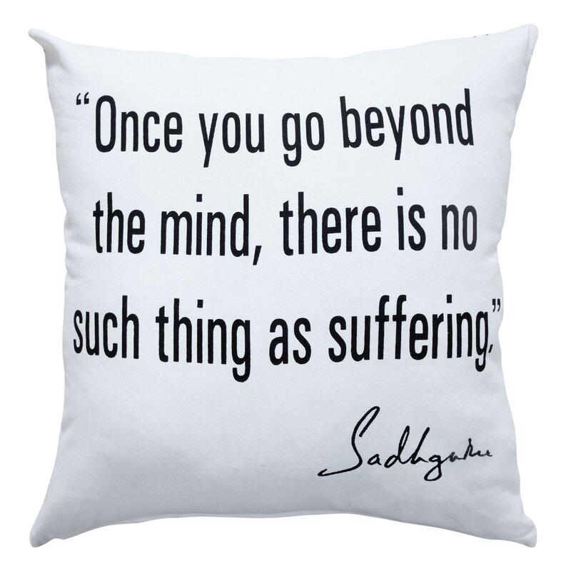 Trinx Inspirational Mystic Square Cotton Pillow Cover Insert Wayfair
