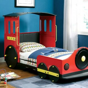 Harborcreek Retro Express Train Twin Car Bed by Zoomie Kids Coupon