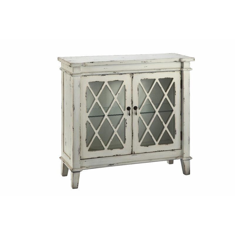 August Grove Cliffo 2 Glass Door Accent Cabinet Reviews Wayfair