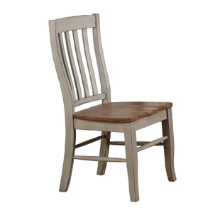 Thibeault Rake Back Solid Wood Dining Chair (Set of 2) August Grove