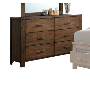 Millwood Pines Aniya Wooden 6 Drawer Double Dresser