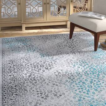 Ebern Designs Vladya Abstract Shag Gray Cream Area Rug Wayfair