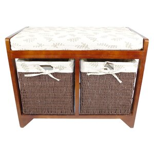 Sitzbank aus Holz mit Stauraum von Geko Products