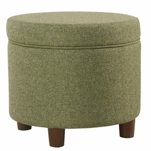 August Grove Hazeltine Round Storage Ottoman