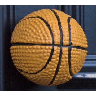 Handpainted Basketball Round Knob