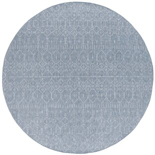 Speers Contemporary Geometric Gray Indoor/Outdoor Area Rug