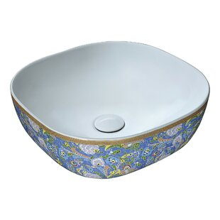 ANZZI Byzantian Vitreous China Circular Vessel Bathroom Sink